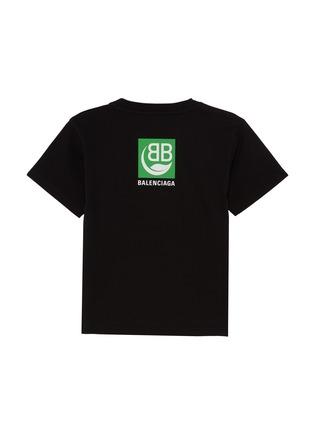 Back View - Click To Enlarge - BALENCIAGA - Square Logo Kids T-shirt