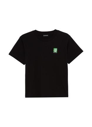 Main View - Click To Enlarge - BALENCIAGA - Square Logo Kids T-shirt