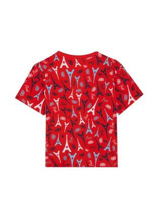 Back View - Click To Enlarge - BALENCIAGA - Eiffel Tower Print T-shirt
