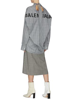 Figure View - Click To Enlarge - BALENCIAGA - Neck tie check shirt