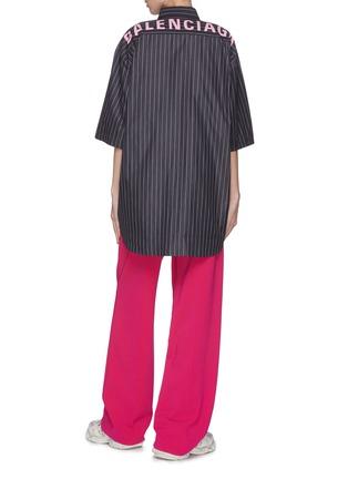 Figure View - Click To Enlarge - BALENCIAGA - Yoke Logo Stripe Shirt
