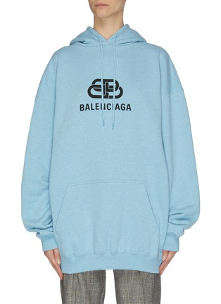 Main View - Click To Enlarge - BALENCIAGA - Logo print hoodie