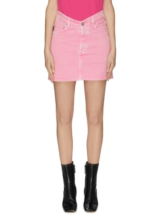Main View - Click To Enlarge - BALENCIAGA - V-waist denim skirt