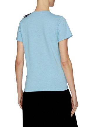 Back View - Click To Enlarge - BALENCIAGA - Logo tab T-shirt