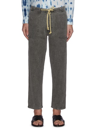Main View - Click To Enlarge - NANUSHKA - Nova' Japanese style drawstring jeans