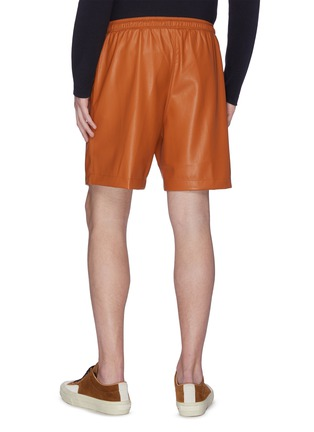 Back View - Click To Enlarge - NANUSHKA - Faux leather shorts