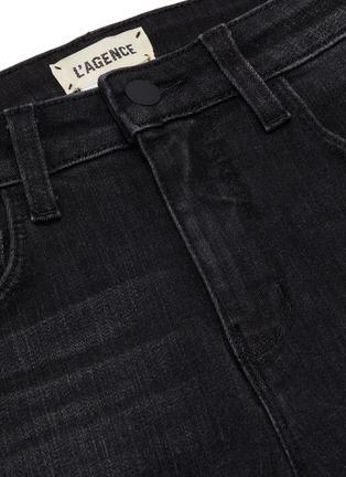 - L'AGENCE - 'Margot' dark wash whiskering skinny jeans