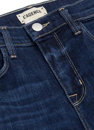 - L'AGENCE - 'Sada' frayed hem crop slim fit jeans