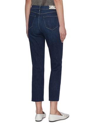Back View - Click To Enlarge - L'AGENCE - 'Sada' frayed hem crop slim fit jeans