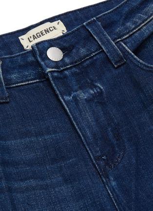- L'AGENCE - 'Danica' dark wash whiskering wide leg jeans