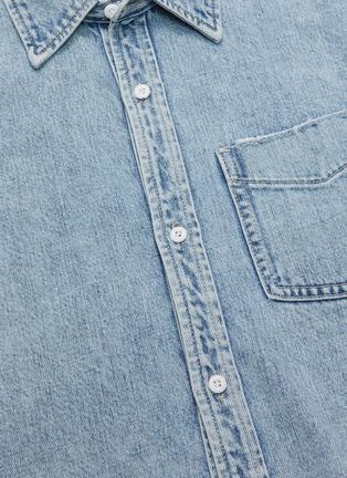 - GRLFRND - 'Christy' Frayed Hem Crop Denim Jacket