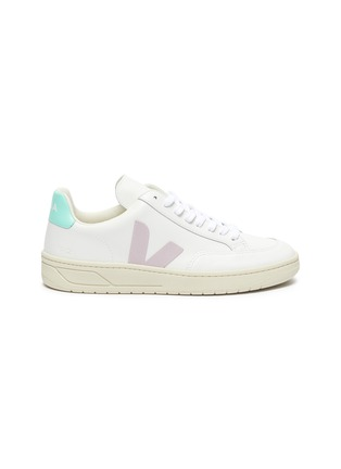 Main View - Click To Enlarge - VEJA - 'V-12' colourblock leather sneakers