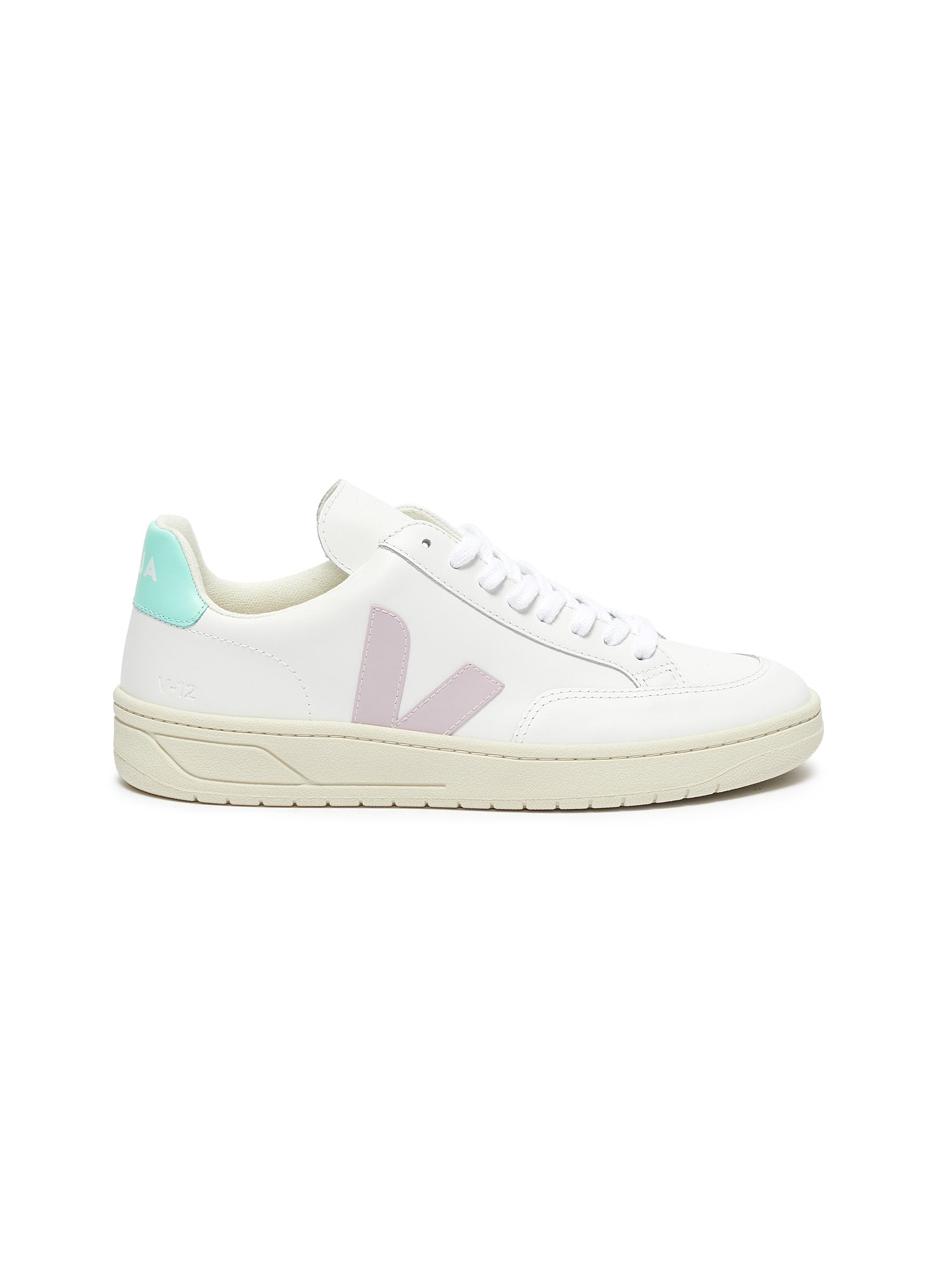 Veja Sneakers V-12 colourblock leather sneakers