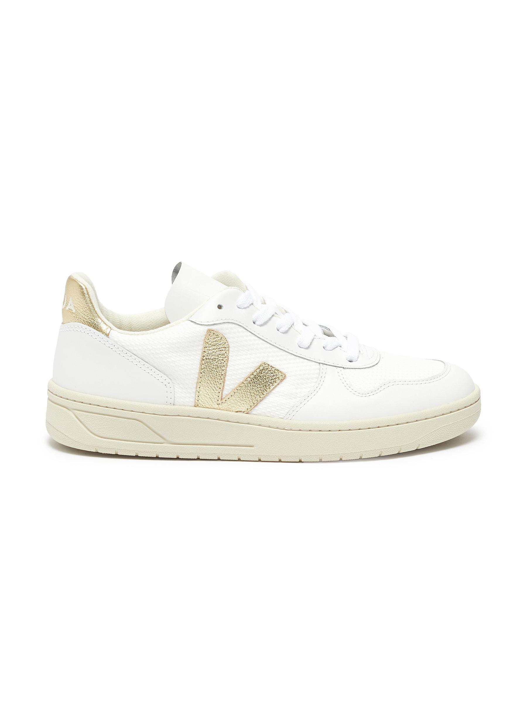 Veja Sneakers V-10 B-mesh leather sneakers