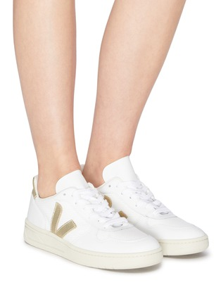 Figure View - Click To Enlarge - VEJA - 'V-10' B-mesh leather sneakers