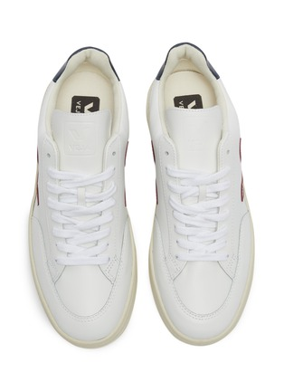 Detail View - Click To Enlarge - VEJA - 'V-12' colourblock leather sneakers