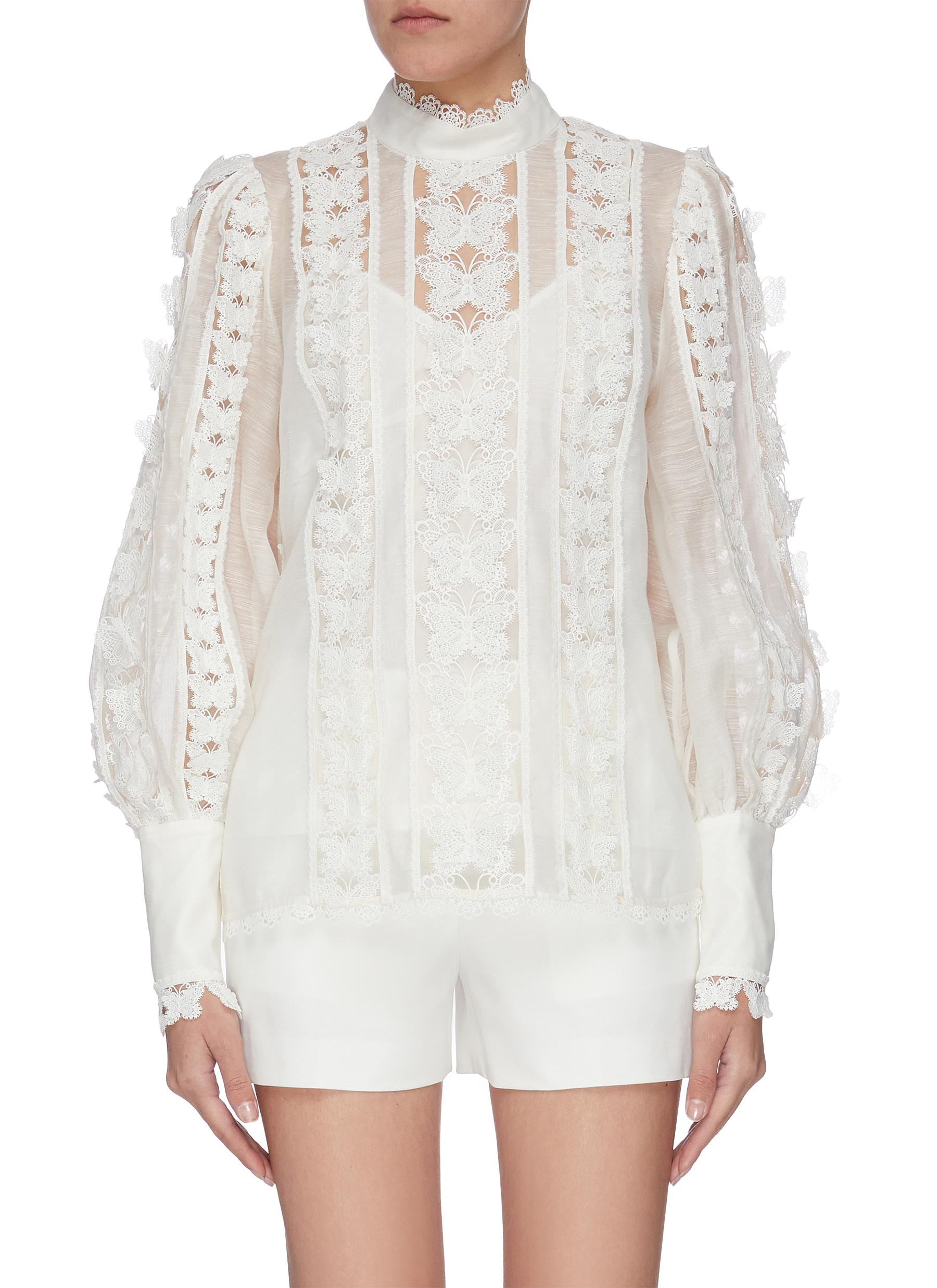 shop Zimmermann 'Super Eight' flutter blouse online