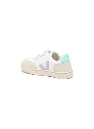 Detail View - Click To Enlarge - VEJA - 'V-12' colourblock leather toddler sneakers
