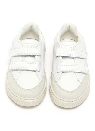 Figure View - Click To Enlarge - VEJA - 'V-12' colourblock leather toddler sneakers