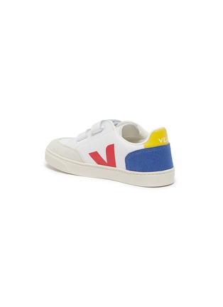 Detail View - Click To Enlarge - VEJA - 'V-12' colourblock leather kids sneakers