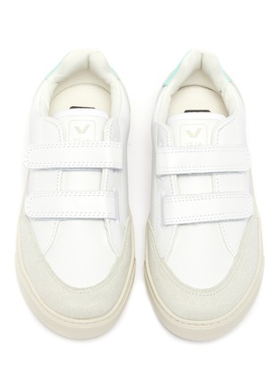 Figure View - Click To Enlarge - VEJA - 'V-12' colourblock leather kids sneakers