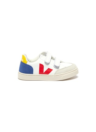 Main View - Click To Enlarge - VEJA - 'V-12' colourblock leather toddler sneakers