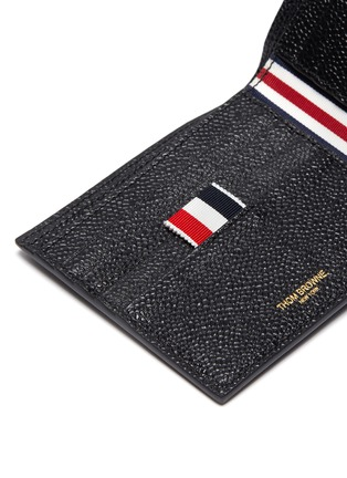Detail View - Click To Enlarge - THOM BROWNE - Pebble grain leather billfold wallet