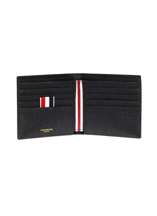 Figure View - Click To Enlarge - THOM BROWNE - Pebble grain leather billfold wallet