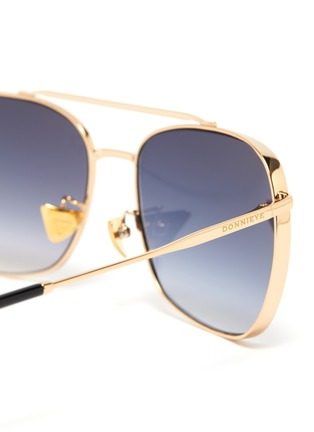 Detail View - Click To Enlarge - DONNIEYE - 'Fearless' Square Metal Frame Aviator Sunglasses