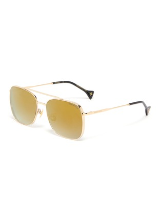 Main View - Click To Enlarge - DONNIEYE - 'Fearless' Square Metal Frame Aviator Sunglasses