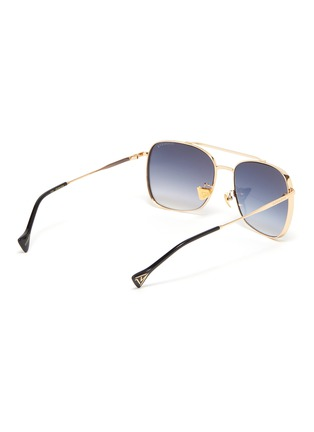 Figure View - Click To Enlarge - DONNIEYE - 'Fearless' Square Metal Frame Aviator Sunglasses