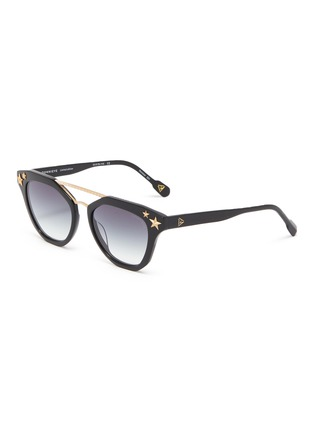 Main View - Click To Enlarge - DONNIEYE - 'Honneur' Star Round Acetate Frame Sunglasses
