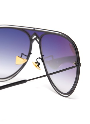 Detail View - Click To Enlarge - DONNIEYE - 'Peace' Metal Aviator Sunglasses