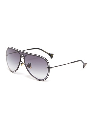 Main View - Click To Enlarge - DONNIEYE - 'Peace' Metal Aviator Sunglasses
