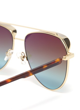 Detail View - Click To Enlarge - DONNIEYE - 'Unifie' Aviator sunglasses