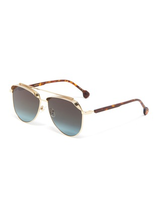 Main View - Click To Enlarge - DONNIEYE - 'Unifie' Aviator sunglasses