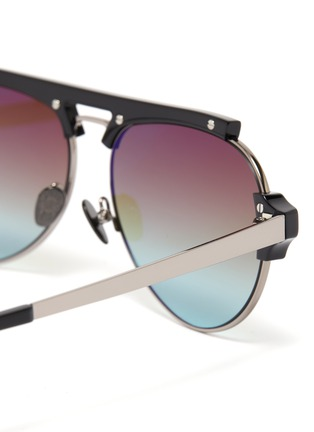 Detail View - Click To Enlarge - DONNIEYE - 'Courageux' Star bar aviator sunglasses