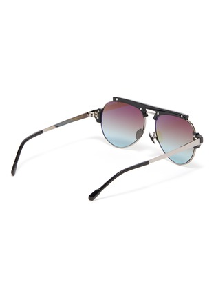Figure View - Click To Enlarge - DONNIEYE - 'Courageux' Star bar aviator sunglasses