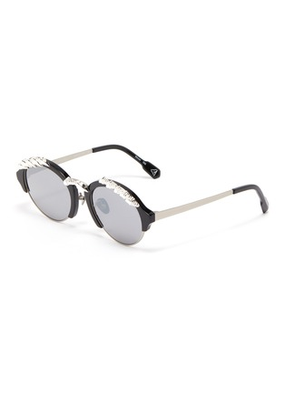 Main View - Click To Enlarge - DONNIEYE - 'Deesse' Claw round sunglasses