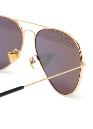 Detail View - Click To Enlarge - DONNIEYE - 'Eternity Zeiss' aviator sunglasses