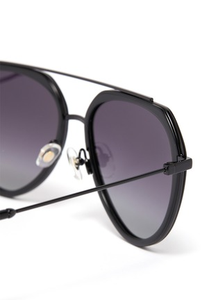 Detail View - Click To Enlarge - DONNIEYE - 'Surmonter' acetate aviator sunglasses