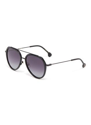 Main View - Click To Enlarge - DONNIEYE - 'Surmonter' acetate aviator sunglasses