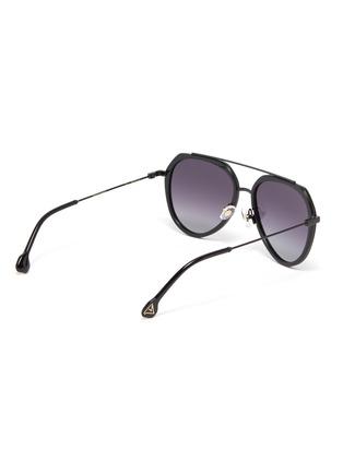 Figure View - Click To Enlarge - DONNIEYE - 'Surmonter' acetate aviator sunglasses