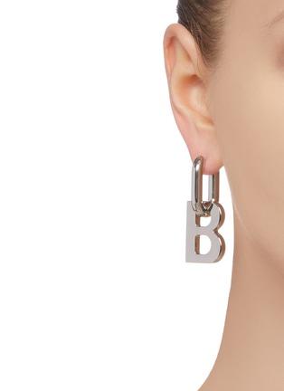 Figure View - Click To Enlarge - BALENCIAGA - XL single B earring