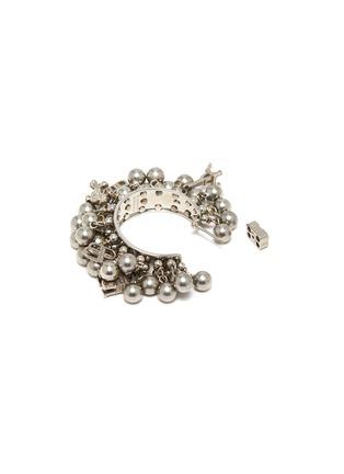 Detail View - Click To Enlarge - BALENCIAGA - Tassel bead hoop earrings