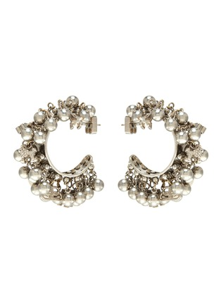 Main View - Click To Enlarge - BALENCIAGA - Tassel bead hoop earrings