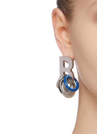 Figure View - Click To Enlarge - BALENCIAGA - Multiring XL single B earring