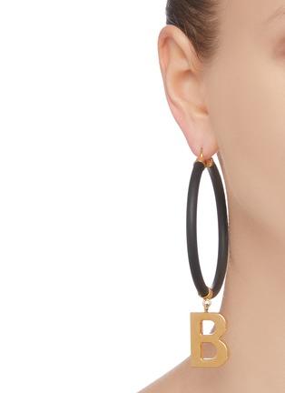 Figure View - Click To Enlarge - BALENCIAGA - Elastic band earrings