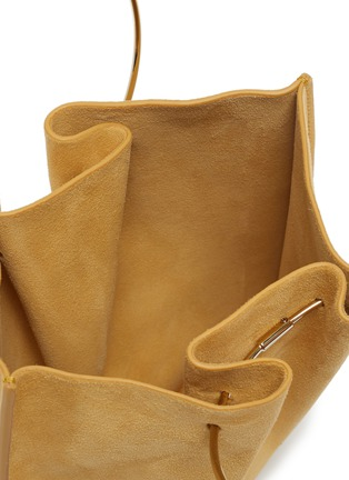 Detail View - Click To Enlarge - THE ROW - 'Flat' ring handle suede micro bag