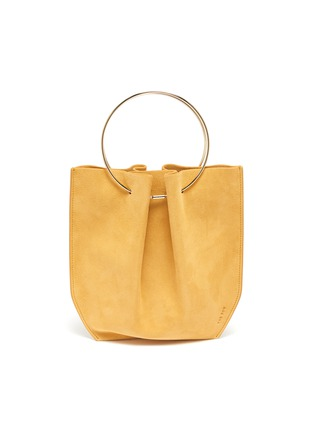 Main View - Click To Enlarge - THE ROW - 'Flat' ring handle suede micro bag